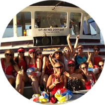 Hens boat party in Bali