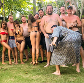 Private villa stag do party